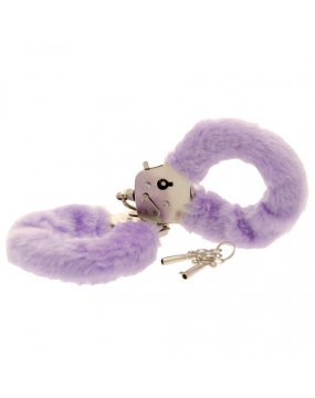 Toy Joy Furry Fun Hand Cuffs Purple Plush