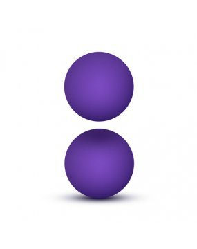 Luxe Purple Double O Kegel Balls Weighted 0.8 Ounce