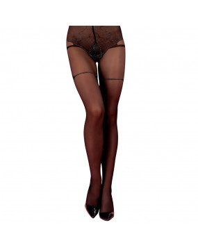 Corsetti Meridany Tights With Silver Pattern