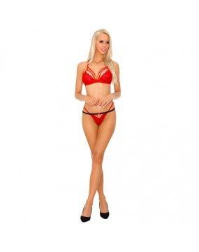 Corsetti Tarinas Red Bra and Panty Set