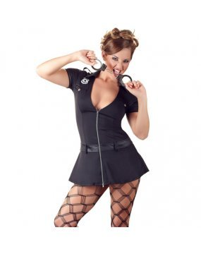 Cottelli Collection Costumes Black Police Women Dress