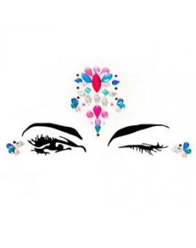 Sirene Face Jewels Sticker EYE005