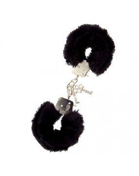 Furry Metal Handcuffs Black