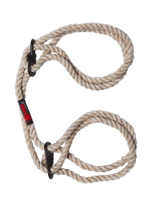 KINK Hogtied Bind and Tie 6mm Hemp Wrist or Ankle Cuffs
