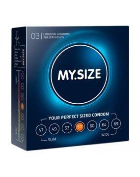 My.Size 57mm Condom 3 Pack