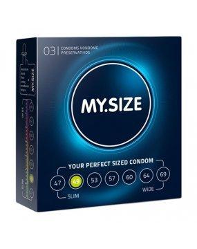 My.Size Natural Latex Condom 49 Width 3 PCS