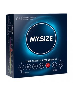 My.Size Natural Latex Condom 60 Width 3 PCS