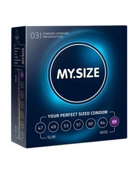 My.Size Natural Latex Condom 69 Width 3 PCS