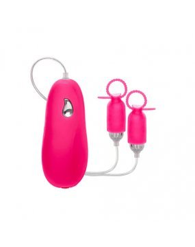 Pink Silicone Vibrating Nipple Pleasurizers