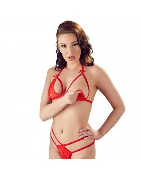 Cottelli Lace Set Red