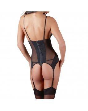 Cottelli Black Basque Suspender Set