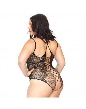 Leg Avenue Crotchless Teddy Plus Size UK 18 to 22