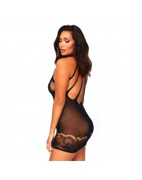 Leg Avenue Floral Lace Opaque Mini Dress UK 18 to 22