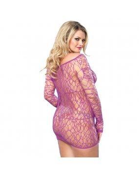 Leg Avenue Web Net Mini Dress Purple UK 18 to 22