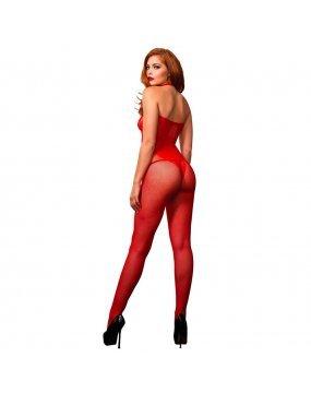 Leg Avenue Seamless Halter Body Stocking Red UK 8 to 14