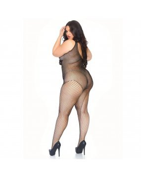 Leg Avenue Crystalized Bodystocking Plus Size UK 18 to 22