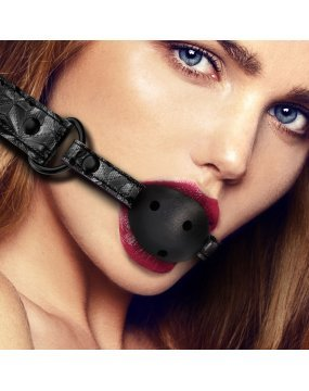Ouch Breathable Luxury Black Ball Gag