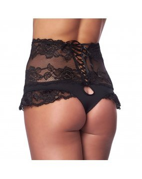 Perfect Fit Black High Waist Panty